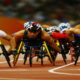 BEIJING - SEPTEMBER 16: (CHINA OUT) Athletes compete in the Men's 1500m - T54 Final Athletics event at the National Stadium during Day 10 of the 2008 Paralympic Games on September 16, 2008 in Beijing, China. (Photo by China Photos/Getty Images)