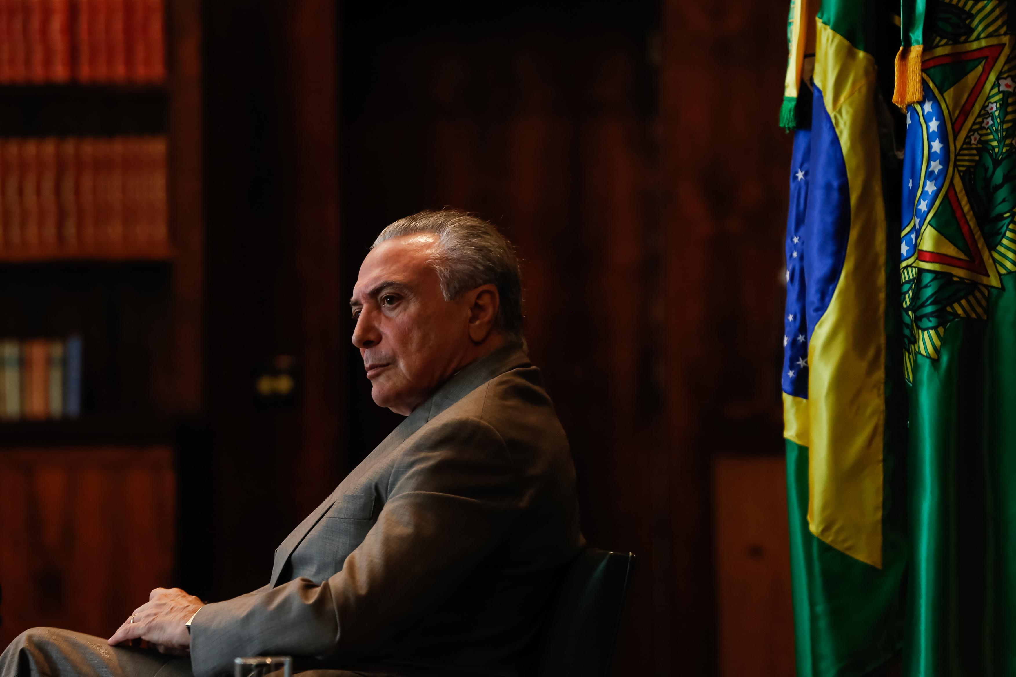 15/05/2017- Brasília - DF, Brasil- Presidente Michel Temer durante entrevista para o programa Frente a Frente da Rede Vida. Foto: Marcos Corrêa/PR